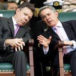 """Santos ejercía como Ministro de Defensa (de Álvaro Uribe) cuando se desató el escándalo de """"Falsos Positivos"""". http://t.co/CtsGLfnTDQ"""