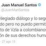 Sr. @JuanManSantos si sabe q Maduro es un Violador de DDHH, porqué deporto a @LORENT_SALEH? #LasIdeasNoCabenEnLaCelda http://t.co/IuLXGUd0od