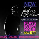 1061BLI: 24 hours until #WhatDoYouMean drops! Tomorrow were playing it every hour, on the hour! @justinbieber  http://t.co/Ug09WaMzxm