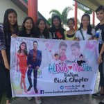 We are #ALDUBGettingCLOSER ! Team Bicol here in Airport para salubungin si Bae @aldenrichards02 ! @MaineAlden16 http://t.co/rgrhLpPU55