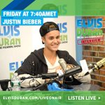 ElvisDuranShow: It all goes down in just a few short hours..... #BieberOnElvis airs TOMORROW at 7:40 AM ET http://t.co/vNxwCICvCn