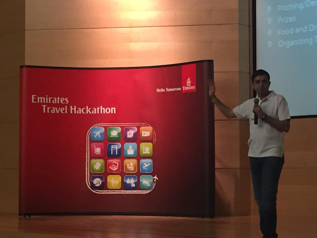 The buzz is on! At the Emirates HQ #EmiratesTravelHackathon https://t.co/umznYpAnai http://t.co/GHOsw3eEhf