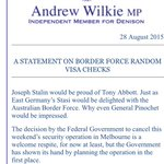 Andrew Wilkie not pulling punches regarding #OperationFortitude http://t.co/jKpAqrnE7A