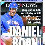 Our @NYDNSports back page: Murphy hit in 13th, unreal play in field help @Mets sweep Phils, finish 8-1 road trip http://t.co/2fWcb1KnyG
