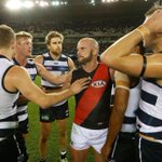 Much-loved by both @EssendonFC & @GeelongCats, Paul Chapman plays his last game tonight. Youll be missed, Chappy. http://t.co/4BXLPdJbQu