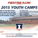 #Illini will host FREE Youth Camps 3 straight Thursday evenings starting Sept. 10! Details > http://t.co/9xEGpcgm6Z http://t.co/Af9XGayKOy