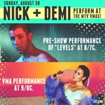 Tomorrow starting at 8/7c on the @mtv #VMAs: @NickJonas on the pre-show + @ddlovato on the #VMAs http://t.co/VWCEeA2GTn