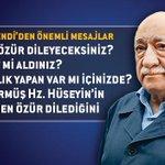Fethullah Gülen H.e: Neden özür dileyeceksiniz, rüşvet mi aldınız, hırsızlık mı yaptınız?  http://t.co/uW0nfpSLnH http://t.co/laPNgcZ5gx