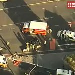 JUST IN: Car has rolled over near Ann & Queen St in the CBD. Motorists urged to avoid area, delays expected #9News http://t.co/8mUQvk5Ew5