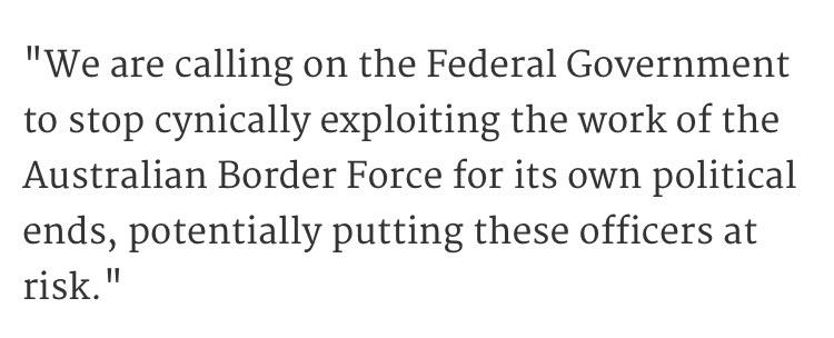 Wow. This statement from the Australian #BorderForce's own union. #OperationFortitude  #auspol http://t.co/99oYuTiYYb
