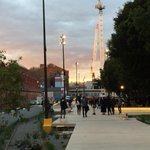 Made it onto the #goodsline park. Beautiful #Sydney evening to enjoy this new #publicspace http://t.co/hGdrgR1vVA