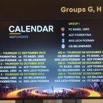 Le date e il calendario ufficiale del girone della Fiorentina http://t.co/tEb5qW99CH