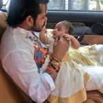 The best feeling ever ..my lovely sweet angel Sree saanvika..happy onam http://t.co/aBO7oiAACT