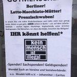 Spendenaufruf in Berlin, Prenzlauer Berg für #Flüchtlinge #lattemacchiato http://t.co/VgplNQYUCA