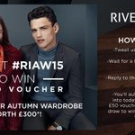 Welcome to the new season! Want to win a £50 voucher? Just RT or Tweet #RIAW15 to watch our ad for a chance to win! http://t.co/XWsVsvAIYZ