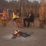 Good Morning Namibia this morning. Taking TV to the people. #OmusatiRegion #NBC #Outapi #Work http://t.co/wnnpgmK4qN
