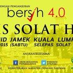 Esok! Solat Hajat (sempena #bersih4.0 #bersih di masjid Jamek, Kuala Lumpur. Jemput Hadir! @n_izzah http://t.co/MExeZGgtOW