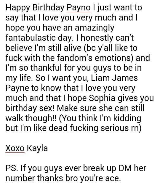 (Sorry this wasn\t like extra long but yeah Happy Birthday my sexy idol you!!)    ~Kayla