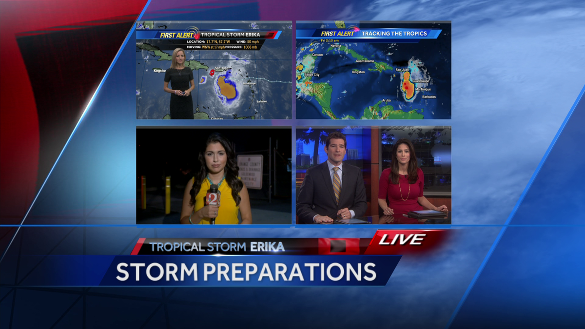 We have team coverage of #TropicalStormErika. Watch until 9AM on @WESH/@CW18TV or on the web: http://t.co/1Tex2CrqWS. http://t.co/INIy03ttzK