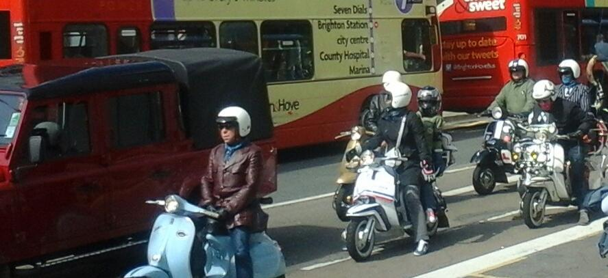 The mods are starting to arrive in #Brighton ready for the @NewUntouchables #ModWeekender http://t.co/pgFhXajNcp