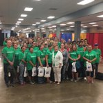 A group photo taken at todays breakfast full of Volunteers for Day of Caring with Nancy Perry! #NPDOC2015 http://t.co/xPHbrSso49