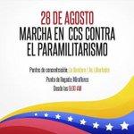 #Hoy Marchemos todos unidos por la paz de Venezuela y contra del paramilitarismo. #YoMarchoXLaPazDeVzla http://t.co/w10xUrqJxo