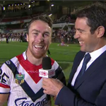 """""""Now thats the face of a winner!"""" - @BradFittler on James Maloney. #NRLManlyRoosters #NRLFootyShow http://t.co/bSN9fTAN8M"""