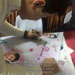 Pambansang Bae @aldenrichards02 while signing our TARPS! Yes ang dami ng tarp namin! =) #ALDUBMaiDenHeaven http://t.co/Z9LzDAY9B8
