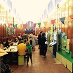 Its all go here at the V&A tonight! Weve decorated the walls and amassed hard working papercrafters, of all ages! http://t.co/oI9aHTGDTn
