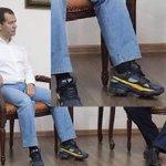 Медведев появился на публике в кроссовках на каблуках. Нет ли с этом пропаганды гомосексуализма? http://t.co/FHSv0sV5In