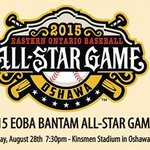 Oshawa hosts 2015 @EOBAbaseball Bantam All-Star Game Kinsmen Stadium 7:30 pm tonight http://t.co/JpLR4g1oMq http://t.co/oqxrbMdbej