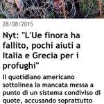 #migranti #NYT accusa Francia e Regno Unito: italia lasciata sola!sono sempre più convinta che faccia comodo #Pd http://t.co/iMUTFJl8ZE