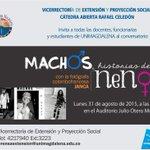 Este lunes en @unimagdalena conversatorio con #Janca y su mirada al machismo Machos historias d nenas @LINAPALMA http://t.co/ywhH5uTLmC