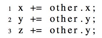 """ㅋㅋ 같은 형식의 코드를 여러줄 복붙한 경우 마지막 줄에 유독 오류가 많다는 내용의 논문이 올해 IEEE 모 학회에서 발표됨. """"The Last Line Effect"""": http://t.co/N0nEWP96kh http://t.co/RcvLN4niFa"""