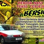 Periuk nasi teksi saja kira,,rakyat 27 juta tanggung mcm2 hal gst & lain2 tak kira,,rakyat susah faham tak.. #Bersih4 http://t.co/LMTecNyo8z