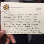My commissioner > yours. Thank you @GregSankey http://t.co/6J2ZYrcPnL