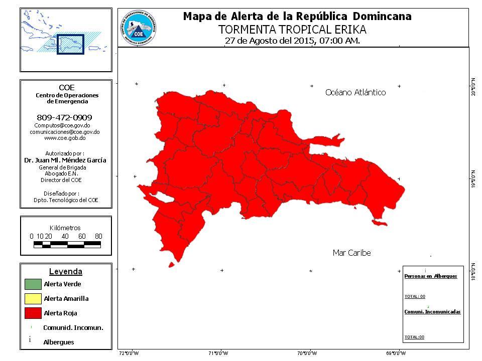 Mapa de alerta COE. http://t.co/Gha5xUXyob