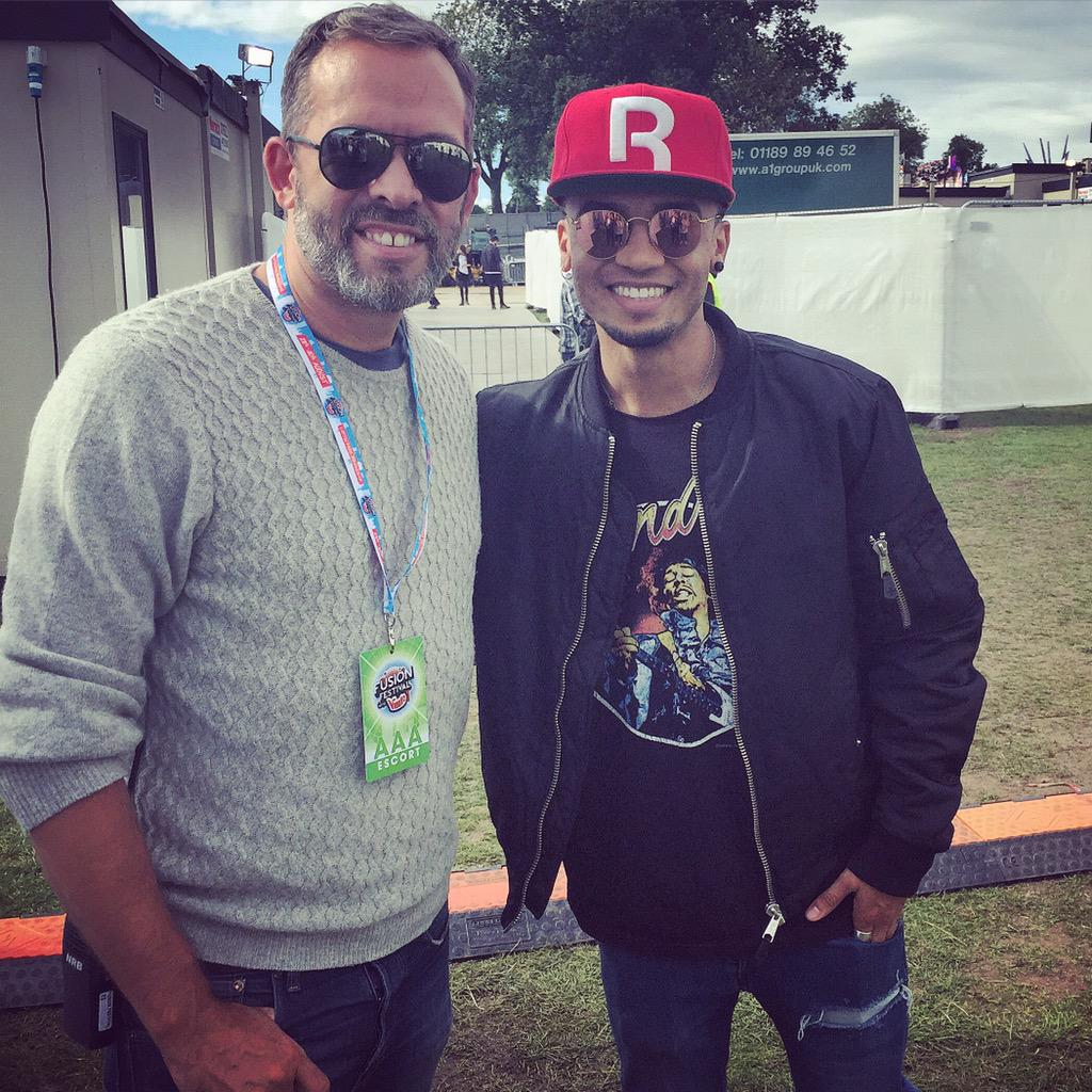 Great to catch up with @AstonMerrygold ahead of his performance at @fusionfest #FusionFestVimto http://t.co/H5HihZZtJJ