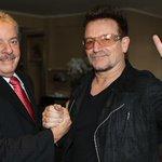 """Bono Vox: """"Lula é um tesouro global"""". O Brasil sabe; daí, a perseguição da mídia/Judiciário/oposição. #LulaForever http://t.co/TaxBNxtqlI"""