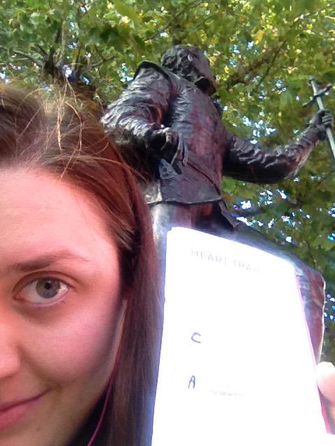 To tweet, or not to tweet. That is the question. Second clue done! #LondonHeartTrail http://t.co/TX9cV0qCla