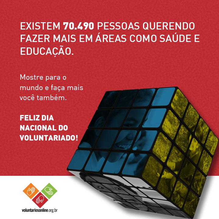 Feliz Dia Nacional do #Voluntariado pra quem participa da transformação social! Saiba mais: http://t.co/6T8sjcB7Ul http://t.co/DU9VaqKx4b