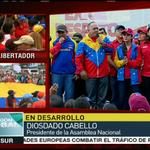 #LAFOTO | Presidente de la AN de #Venezuela @dcabellor ofrece palabras en movilización #YoMarchoXLaPazDeVzla http://t.co/617VTbLDOt