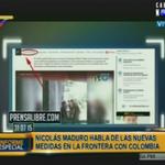 #EnVivo: @NicolasMaduro muestra video falso en que guardias venezolanos maltratan a colombianos. Vía: @Cablenoticias http://t.co/L5Q0F2sABG