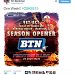 Welp RT @SportsCenter Just one hour ago, @coachbeckman tweeted his excitement about the Illinois season opener. http://t.co/u4G7gxHkPI