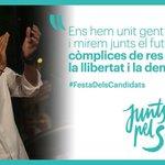 """.@raulromeva: """"Només som còmplices de la llibertat i la democràcia."""" #FestaDelsCandidats http://t.co/THqMhezt8V"""