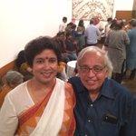 With Ashok Vajpayee tonight.