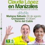 Todo listo para rodar por Manizales #ConcejalVerde5 @Politologo_Soy y Senadora @CLOPEZanalista #ELPoderDeTuVoto http://t.co/6keeAoc2KA