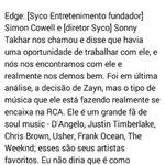 Artigo da Billboard(traduzido), sobre como Zayn se juntou à RCA Records. -Mands #MPN #OneDirection http://t.co/gJMOpXn4VO