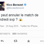 [#EAGOM] Nicolas Benezet il y a une semaine après la victoire 6-0 de lOM face à Troyes... http://t.co/StsYgKN02q