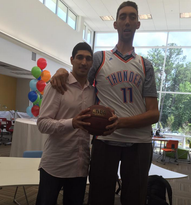 Enes Kanter Is  But Looks Like A Kid Next To The
